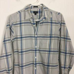 J. Crew Tops - J. Crew Oxford Grey Collared Button Down Shirt